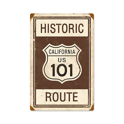 Vintage Style Retro Historic Route 101 Steel Sign 12 x18