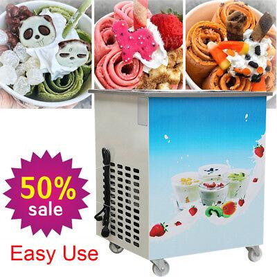Smart Thai Fried Ice Cream Roll Machine Single 36 Cm Pan Fry Pan Ice Cream110v