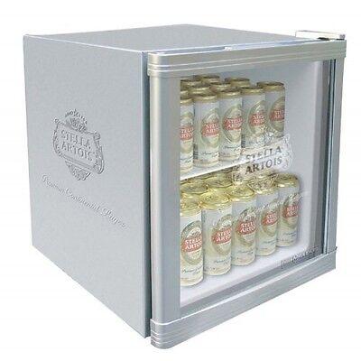 Husky HUS-HM4 Stella Artois Branded Mini Fridge, 46L, A+ energy, Silver