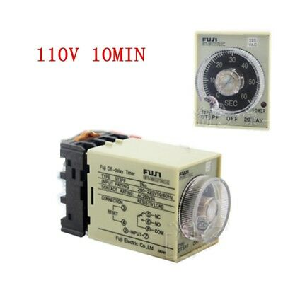 1pcs St3pf 110v Power Off Delay Timer Time Relay 0-10min With Pf083a Socket Base
