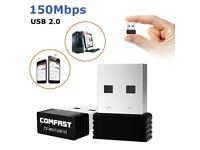Mini USB WiFi WLAN Comfast 150Mbps Wireless Network Adapter Windows 802.11n/g/b