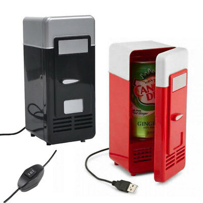 Mini USB PC Car Fridge Refrigerator Freezer Beverage Drink Can Cooler Warmer GL