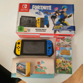Fortnite edition nintendo switch with games