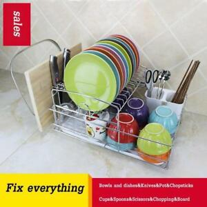 Stainless Steel Dish Rack Drain Board Kitchen(020128)