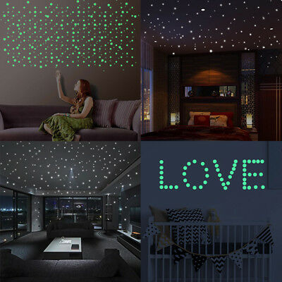 407X Glow In The Dark Star Sticker Decal Wall Stickers mural Decor for Kid Room - Glow In The Dark Decorations For Room
