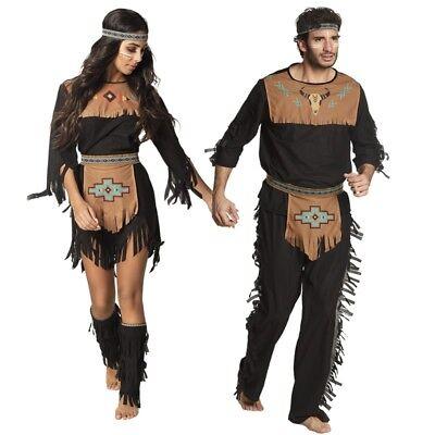 Indianerin Indianer Häuptling Squaw Apache Partner Kostüm für Damen und - Kostüm Für Indianer