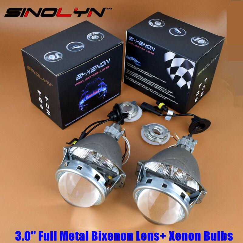 metal 3 bi xenon hid retrofit headlight projector lens. Black Bedroom Furniture Sets. Home Design Ideas