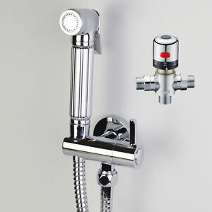 new thermostatic chrome douche muslim bidet shattaf shower. Black Bedroom Furniture Sets. Home Design Ideas