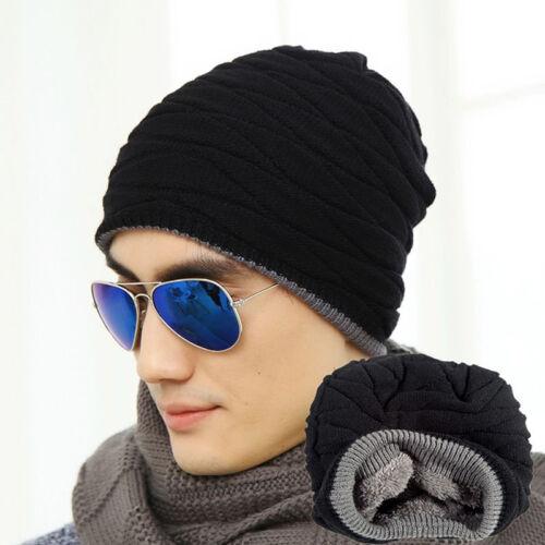 Uomo Donna Uncinetto A Maglia Plicate Cappellino Cappello Di Lana