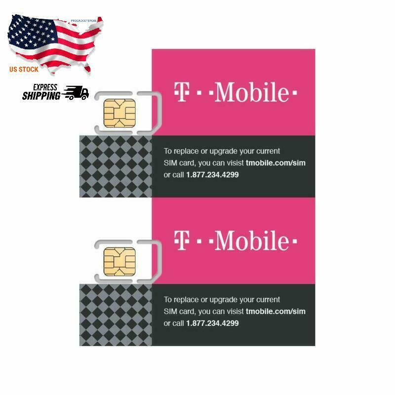 2 Pack Authentic Official T-Mobile SIM Card Micro/Nano/Stand