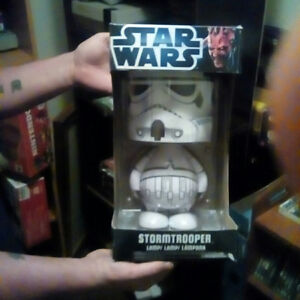 I have Darth Vader, and Storm troopers lamps, never open,s