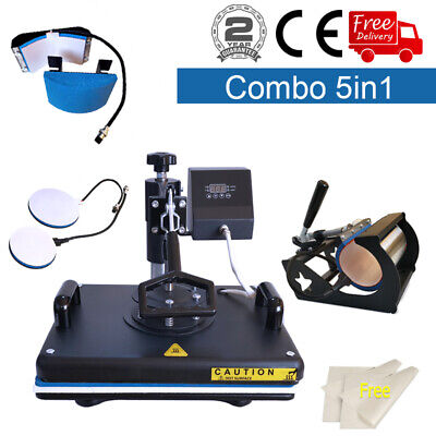 12x15 5in1 Heat Press Machine Transfer Sublimation T-shirt Machine Swing Away