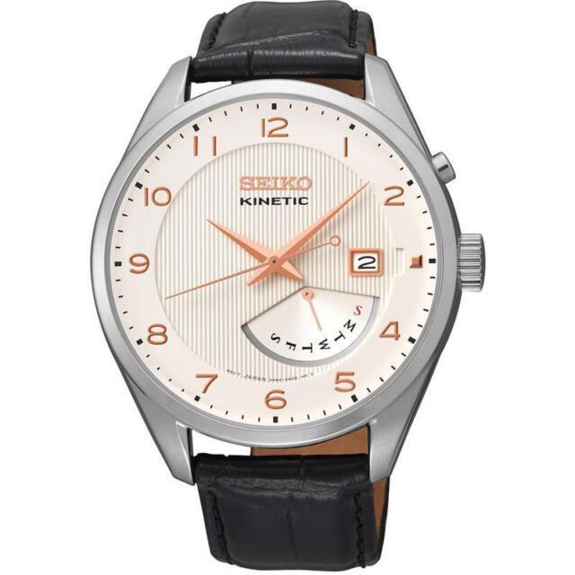 Seiko Kinetic Mens Watch. Classic & Elegant. Powered by Movement. SRN049P1