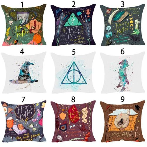Harry Potter Polyester Taie Oreiller Housse De Coussin Maison Sofa Décor 45x45cm
