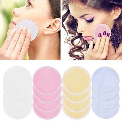 16Pcs wiederverwendbare Make-Up Entferner Pads waschbar Bambus Wattepad Pflege