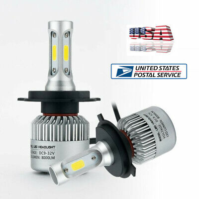 2X Universal Car H4  9003 HB2 LED Headlight Bulbs Bridgelux COB chips Hi-Lo Beam