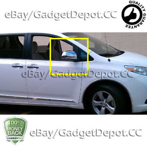 For 2011 2012 2013 2014 2015 Toyota Sienna Chrome Mirror Cover
