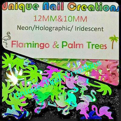 FLAMINGO & PALM TREE GLITTER BLEND~Nail•Acrylic•Gel•Body -