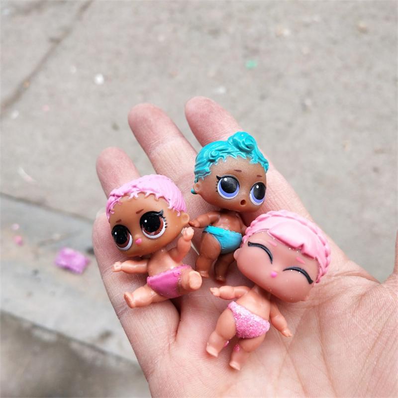 Random lot 5 pcs LOL SURPRISE LIL Little Sisters Series 3 4 doll house toys MBJD