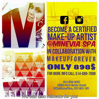 Be a Certified Make-Up Artist  (we can relocate for you)