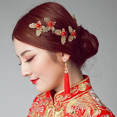 Neu 3 Stück Braut Schmetterling Haarnadeln Hochzeitskleid Kostüm - Kostüm Schmuck Braut