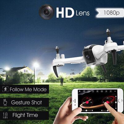 1080P 5MP 2.4G WIFI FPV Altitude Hode Geature Selfie Smart Follow Me RC Drone