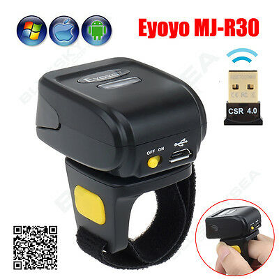Bluetooth Finger-tragbarer Ring-2D-Scanner-Barcode für IOS-Android-Windows-PC (Tragbare Barcode-scanner)