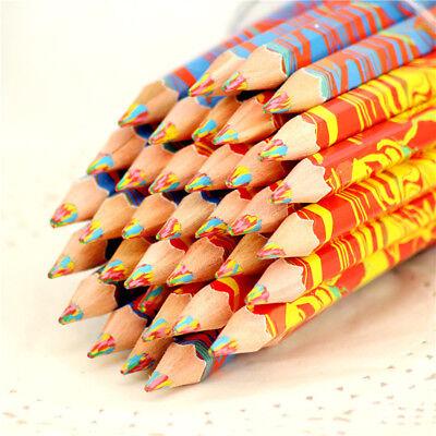 1X Regenbogen Bleistift Student Schule Schreibwaren Kinder Malerei Bleistifte