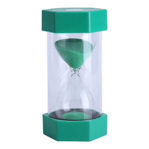 Hourglass Sand Timer - Green - 10 Minutes - Brand New