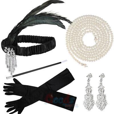 Flapper Girl Accessories (Ladies Gatsby Fancy Dress Accessories Flapper 20'S Charleston Girl Costume)