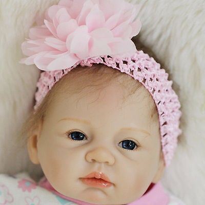 "Real Newborn 22"" Handmade Lifelike Baby Doll Reborn Silicone Vinyl+Clothes"