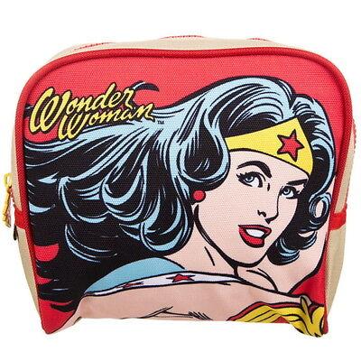 NEW OFFICIAL Wonder Woman DC Comics Vintage Cosmetic Make-Up / Vanity Bag / Case