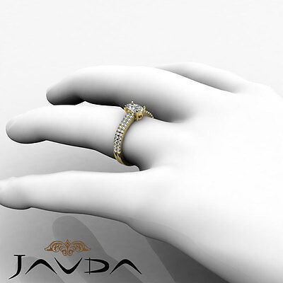 French U Pave Set Oval Diamond Engagement Ring GIA Certified E VVS1 Clarity 1Ct 3