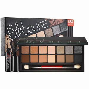 14 Colors Smashbox Full Exposure Natural Eyeshadow Palette+Mascara+Brush+Mirror