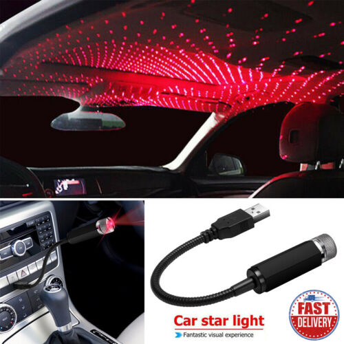 Car Parts - USB LED Car Home Roof Star Night Lights Projector Atmosphere Romantic Light Mini