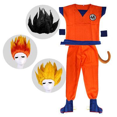 Boys Dragon Costume (Boys Anime Dragon Ball Z GoKu Costume Kids Set Halloween Party Dress Up)