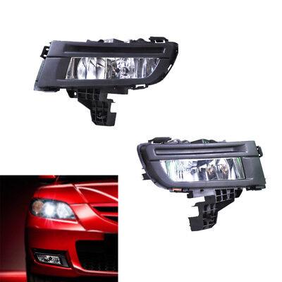 Black Front Left + Right Fog Lights Fog Lamp Fit for Mazda 3 2007 2008 2009 Sale - Cheap Black Lights For Sale