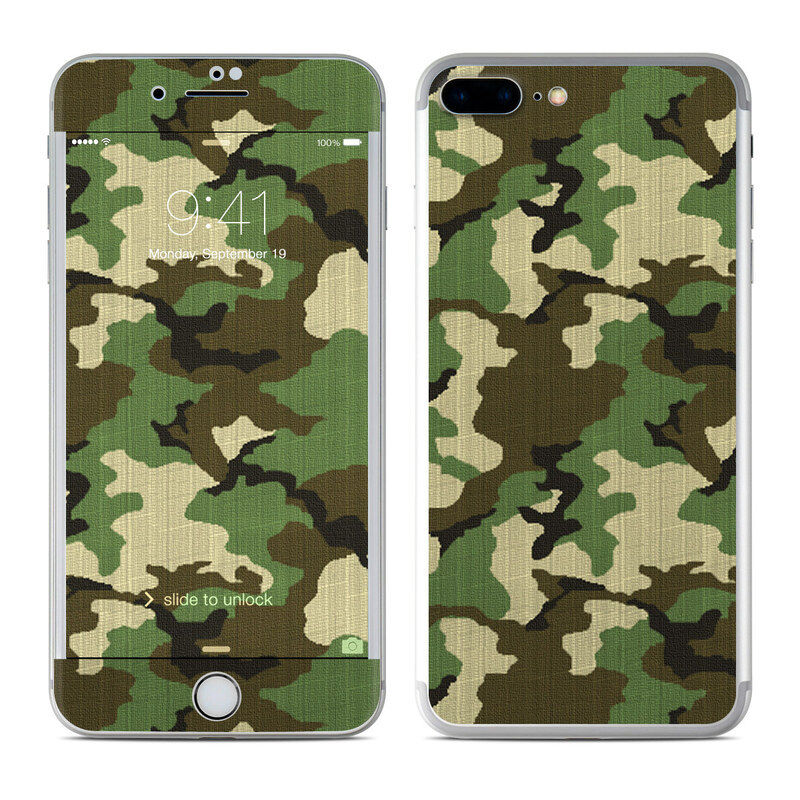 iPhone 7 Plus Skin - Woodland Camo - Sticker Decal
