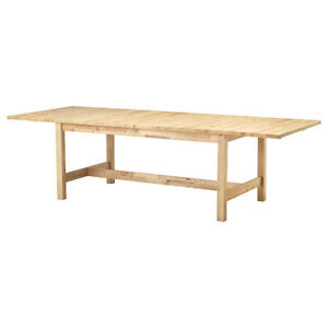 IKEA Norden solid birch extendable table