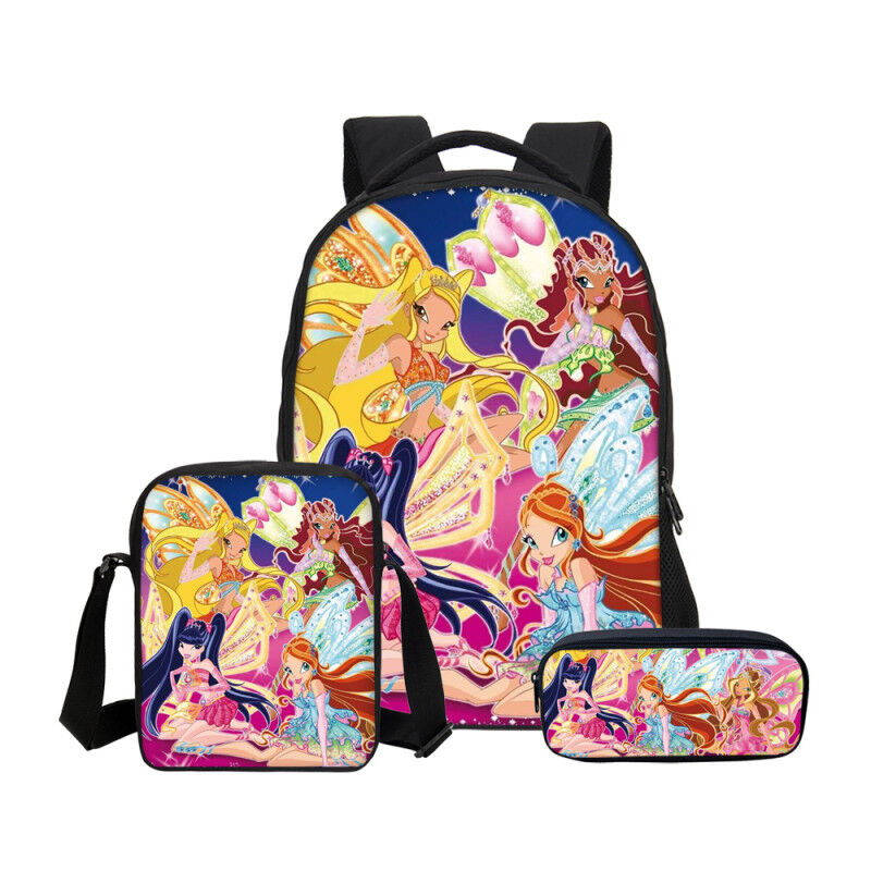Scary Joker Print Backpack// Messenger Shoulder Bag// Pen Bag// 3PCS Bags Set Lot