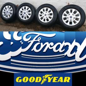 "X4 FACTORY 16"" FORD TRANSIT CUSTOM MK8 MK7 LTD ALLOY Wheels & Goodyear"
