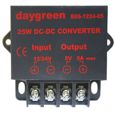 Dc Dc Converter Regulator Car Step Down Reducer 12v 24v To 5v 5 Amp 25w Us Ship