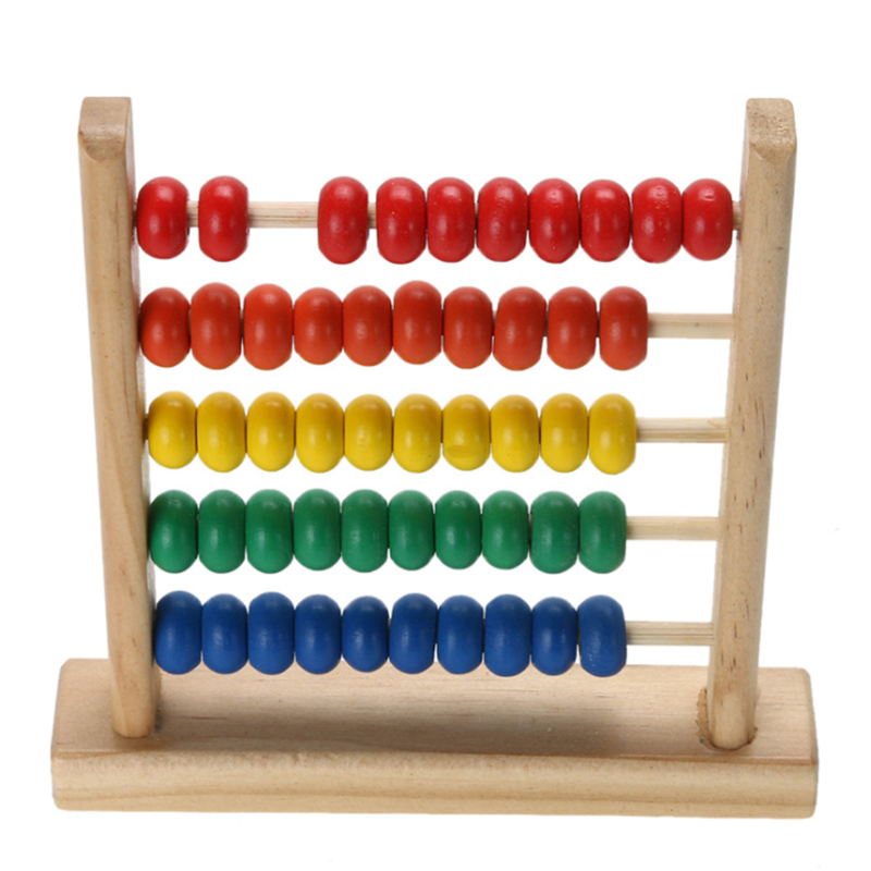 Wooden Abacus 100 Counting Number Preschool Kids Learn