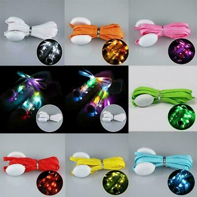 Led Light Shoelaces (LED Light Up Flashing Shoelaces Lace Adult's Party Shoe Luminous Nylon)