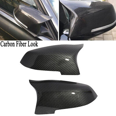 Carbon Fiber Look Mirror Cover for BMW 5 6 7 Series F10 F06 F12 F13 F02 2014-16 for sale  USA
