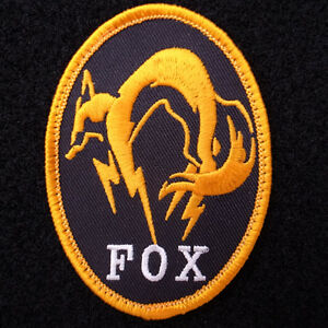 METAL-GEAR-SOLID-GROUND-ZEROES-MGS-FOX-UNIT-Bedge-Embroidered-Vel-cro-Patch