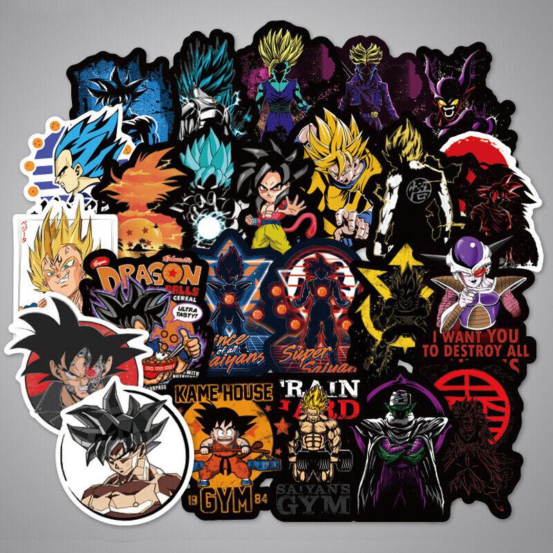 100Pcs Anime Dragon Ball Z Super Saiyan Goku Stickers Bomb Decals For Skateboard