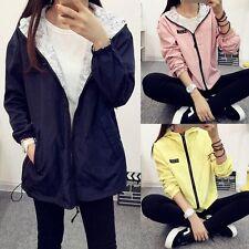 Mujer Abrigos chaquetas Coat Jacket Hooded Zipper Sweatshirt Cardigan Outwear