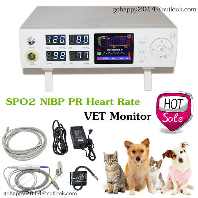 Veterinary Icu Patient Monitor Vital Signs Monitor 4 Parameters Spo2 Nibp Pr Hr
