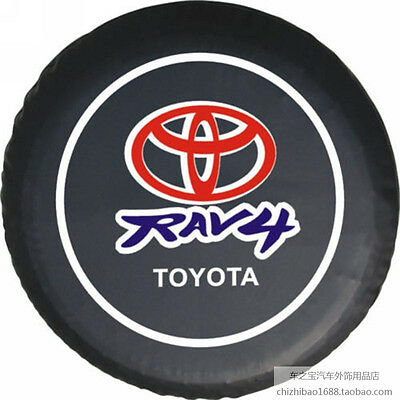 (16inch Spare Tire Cover Protector Tire Cover black  fit For TOYOTA RAV4  76-79cm)